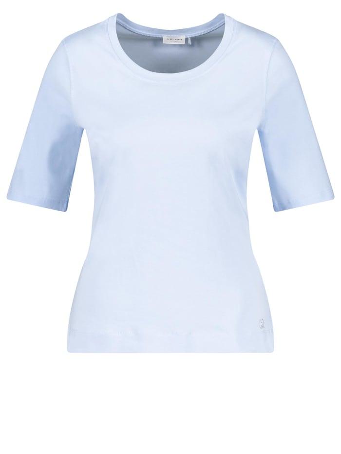 Gerry Weber Basic Shirt organic cotton, Light Blue