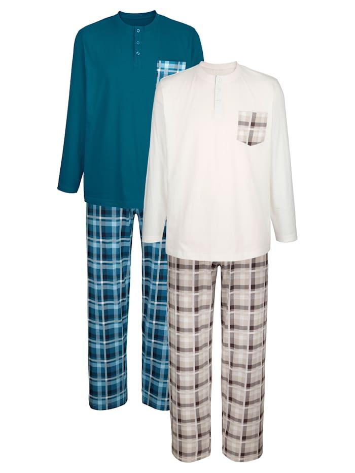 BABISTA Pyjamas, Pétrole/Beige