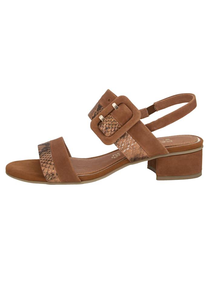 Sandaaltje van een mooie materialenmix