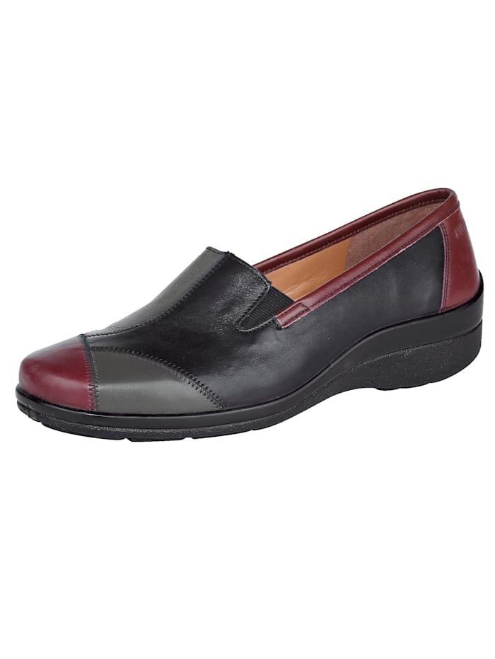 Naturläufer Slip-on shoes harmonious colour combination, Black
