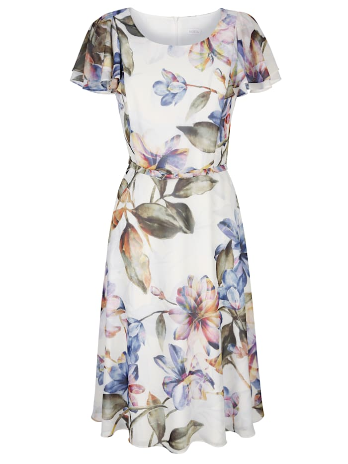 Dress with a watercolour floral print