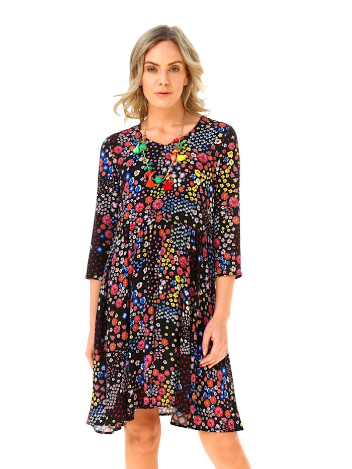 AMY VERMONT Šaty s kvetinovým vzorom, Červená/Modrá/Žltá
