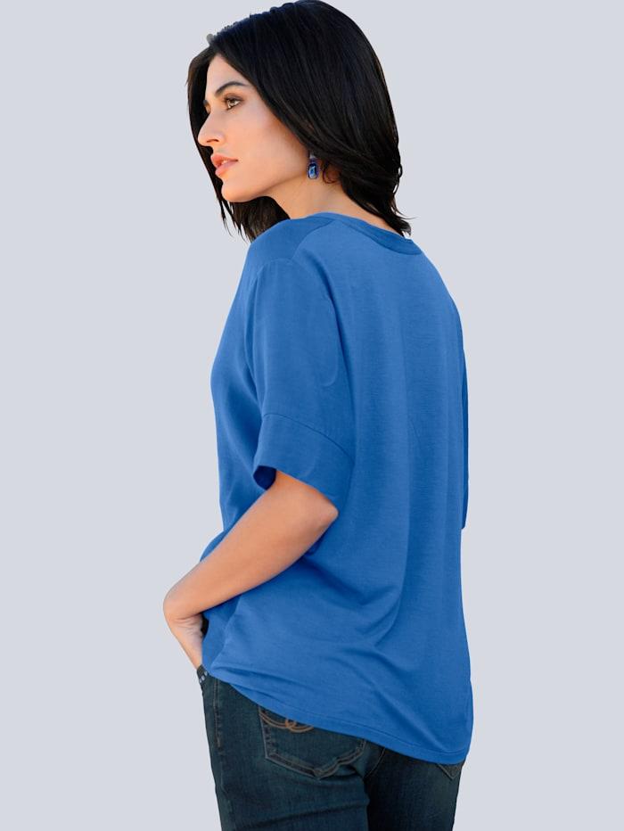Shirt mit Schmuckkugelband am Ausschnitt
