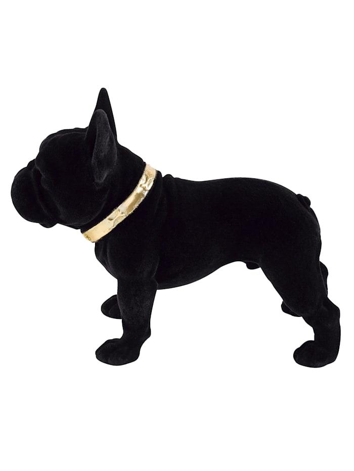 IMPRESSIONEN living Objet décoratif, chien, Noir/doré
