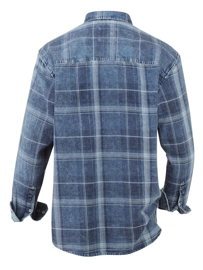 Jeansoverhemd in used look