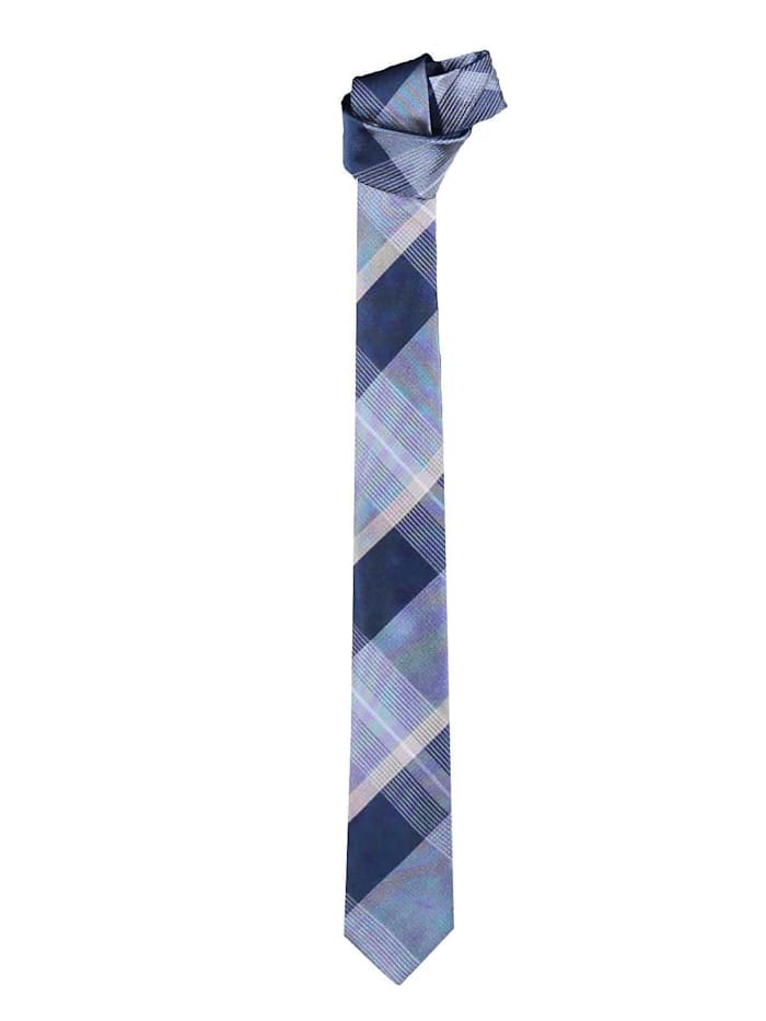 Engbers Krawatte mit stilvollem Karomuster, Marineblau