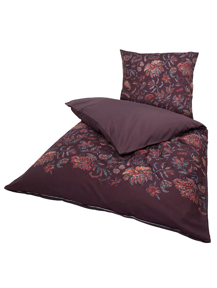 IMPRESSIONEN living Parure de lit réversible, Rouge bourgogne
