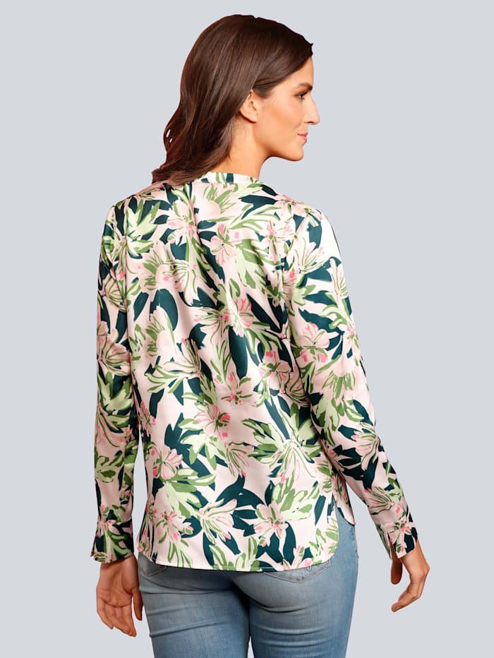 Bluse im farbharmonischem Blumendessin