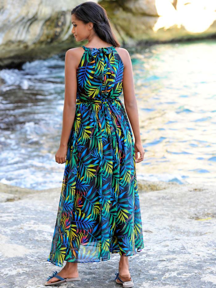 Strandkleid mit Palmenblätterdessin