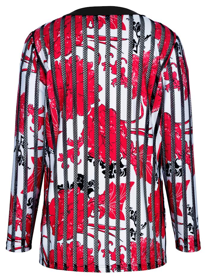 Tričkový kabátik v kvetinovej potlači