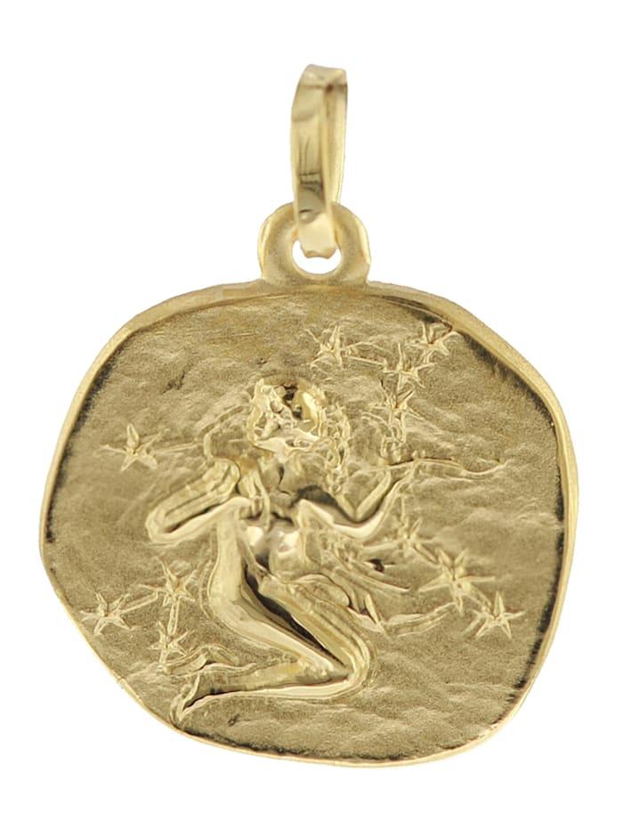 trendor Sternzeichen-Anhänger Jungfrau 585 Gold 16 mm, Goldfarben