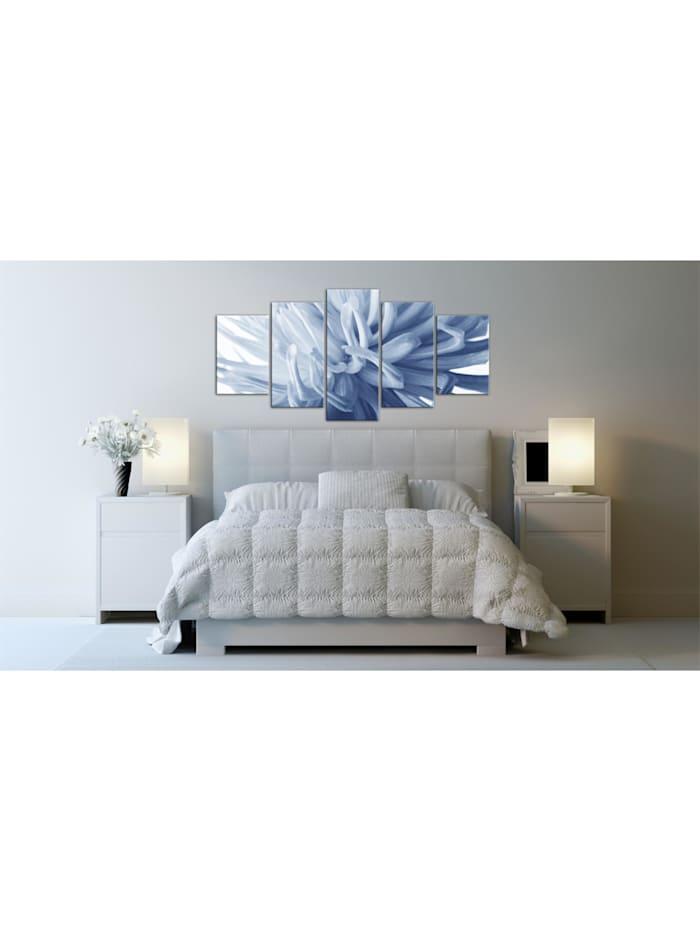 Wandbild Blaue Dahlie