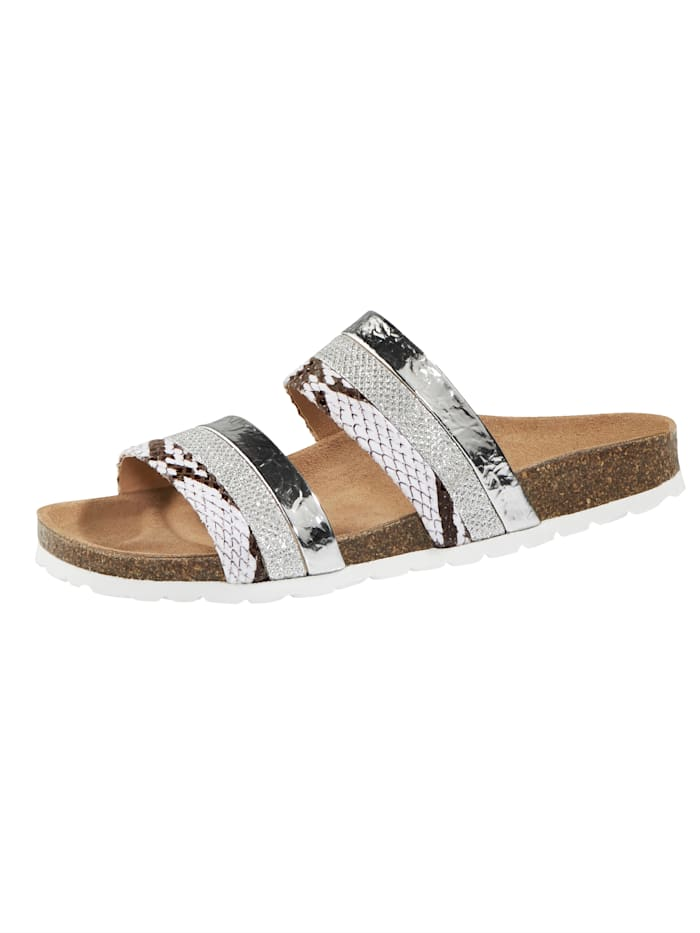Mules with on-trend strap detailing