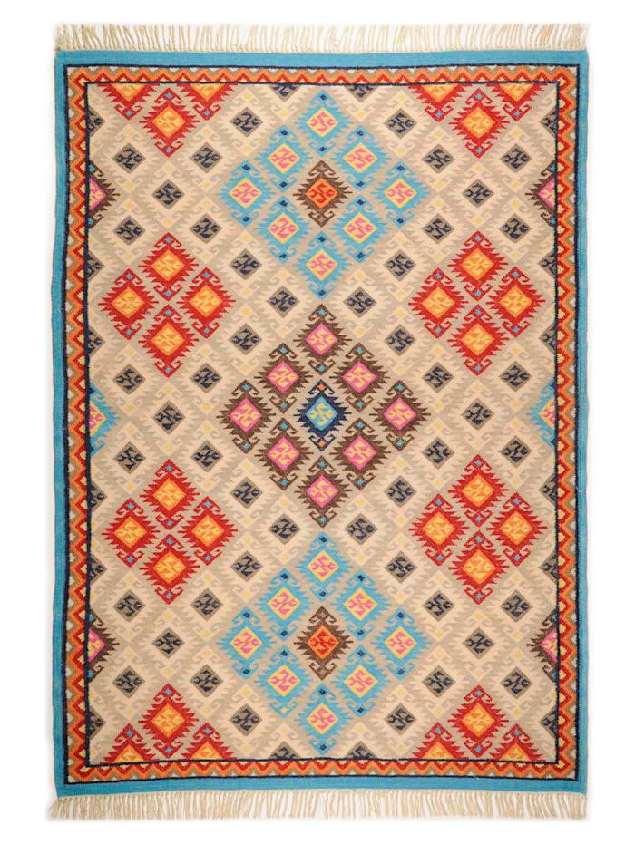 Theko®die Markenteppiche Handwebteppich Fidan, Beige