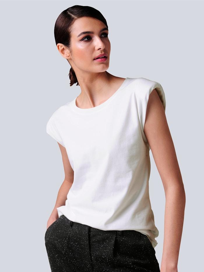 Alba Moda Shirt mit modischen Schulterpolstern, Off-white