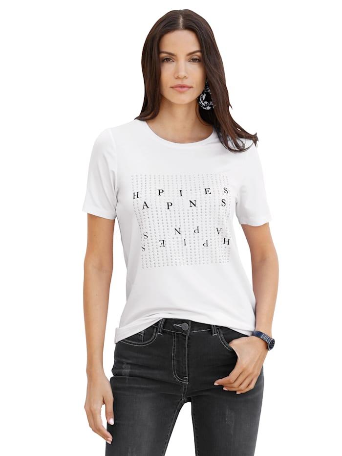 AMY VERMONT Shirt met print voor, Wit