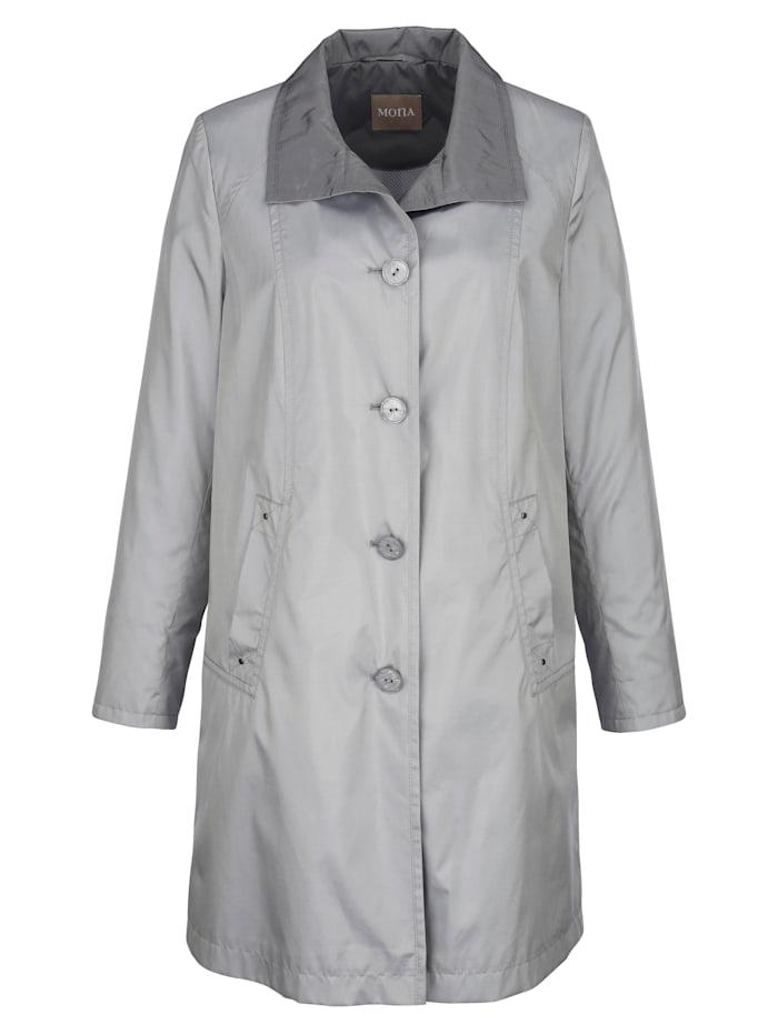 Manteau en microfibre soyeuse