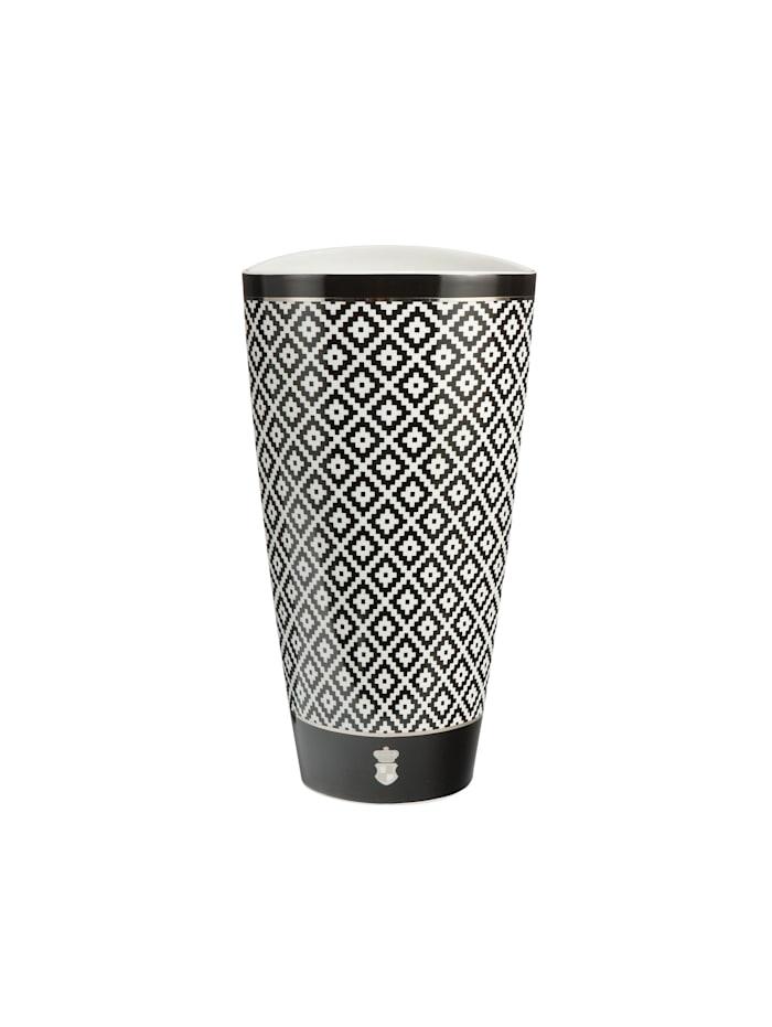 Goebel Goebel Vase Maja von Hohenzollern - Design Diamonds, schwarz-weiß