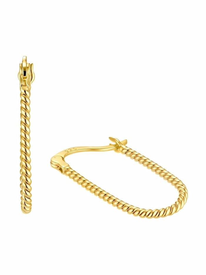 amor Creolen für Damen, Sterling Silber 925, Gold