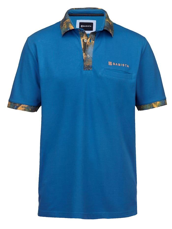 BABISTA Poloshirt mit Kontrastdruck, Blau