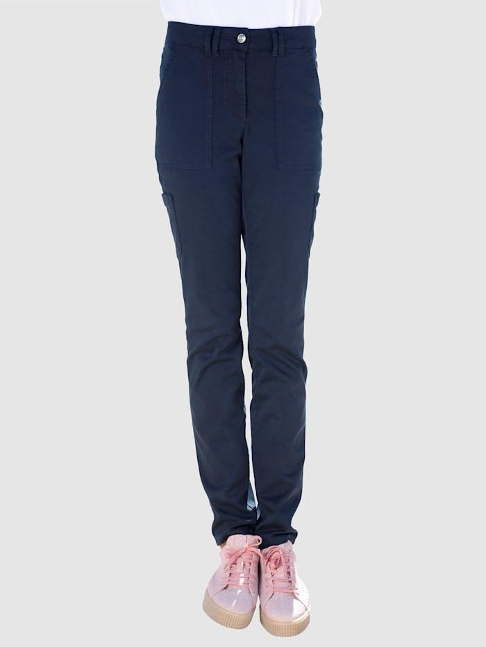 Dress In Pantalon cargo de coupe Sabine extra Slim, Marine