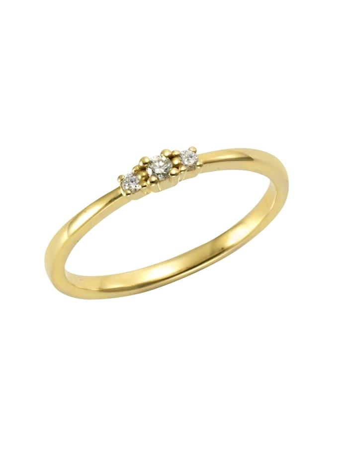 Orolino Ring 585/- Gold Brillant weiß Brillant Glänzend 0,08ct. 585/- Gold, gelb