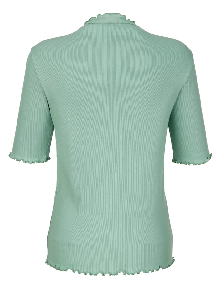 Shirt mit Wellenkante