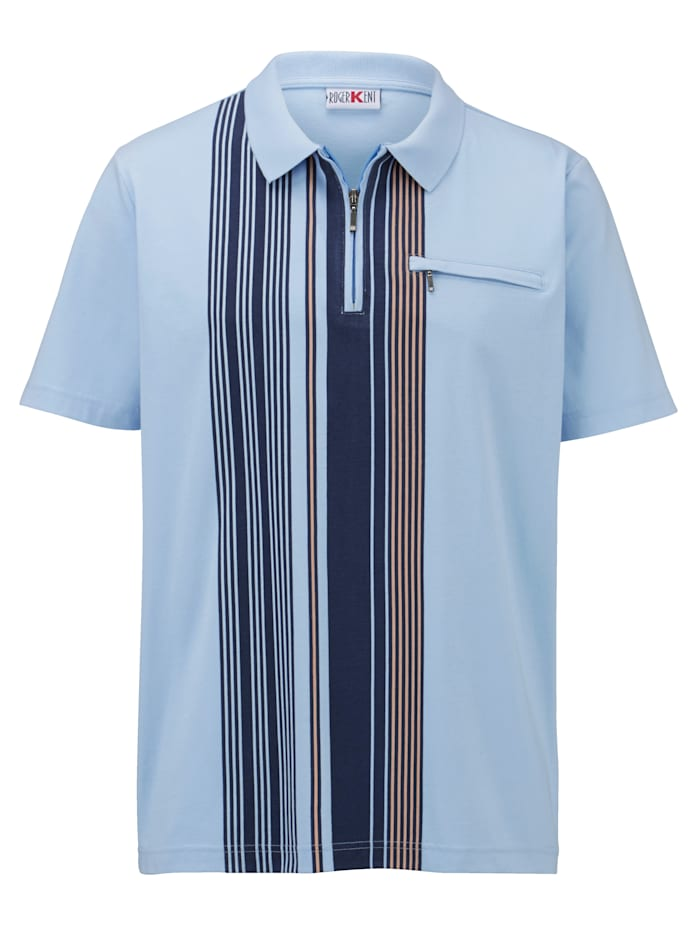 Poloshirt met contrasterende print voor