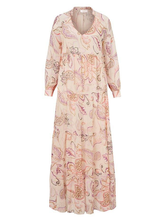 2nd Day Kleid mit Paisley Print, Nude