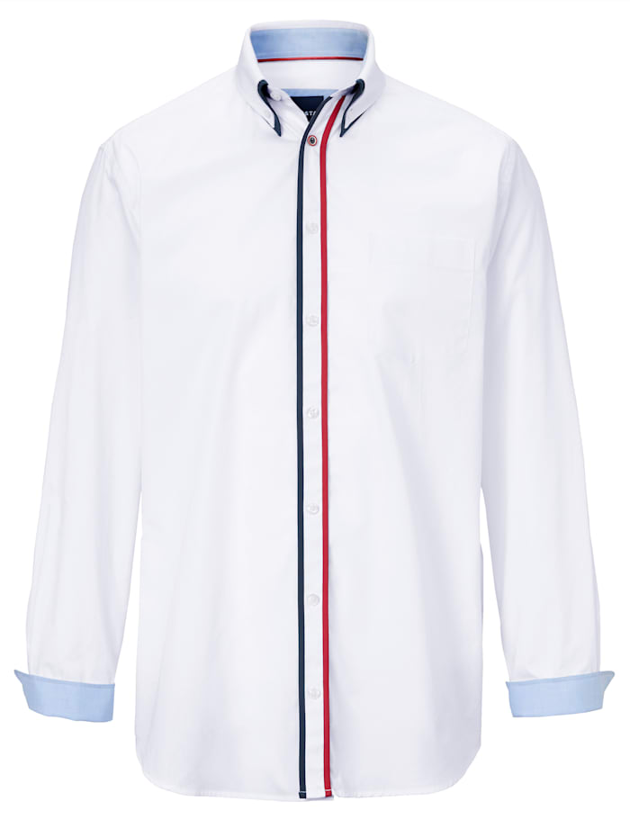 BABISTA Hemd mit Doppelkragen im Button-Down-Stil, Weiß