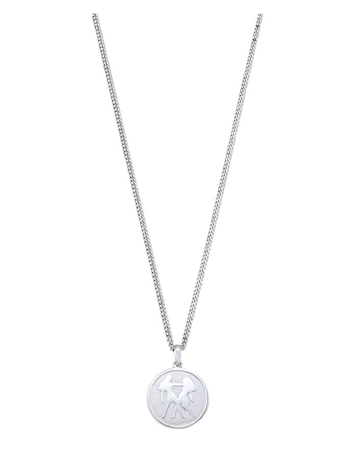 Halsband med stjärntecken Tvillingarna, Vit