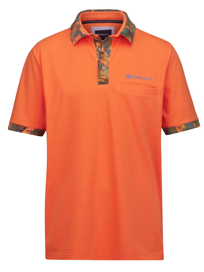BABISTA Poloshirt met contrastkleurige print, Oranje
