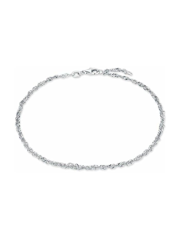amor Fußkette für Damen, Sterling Silber 925, Silber