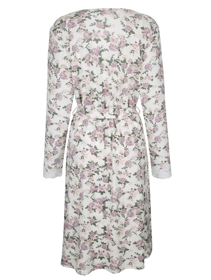 Dressing gown set with floral lace detailing Set