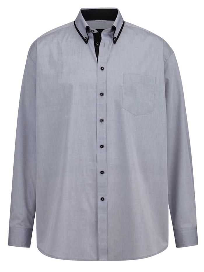 Men Plus Skjorta Specialskärning – perfekt för män med mage, Grå