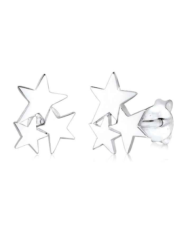 Elli Ohrringe Sterne Stars Astro Stern Trend 925 Silber, Silber