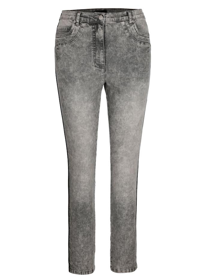 Džínsy kontrastné pásy na boku