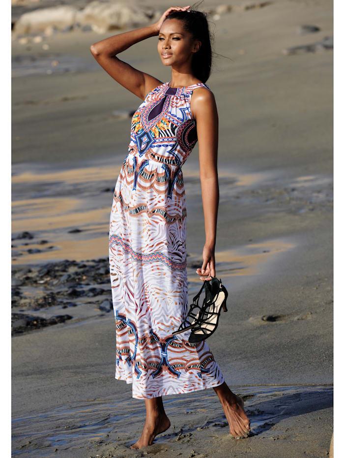 Strandkleid mit ausdruckstarkem Druck