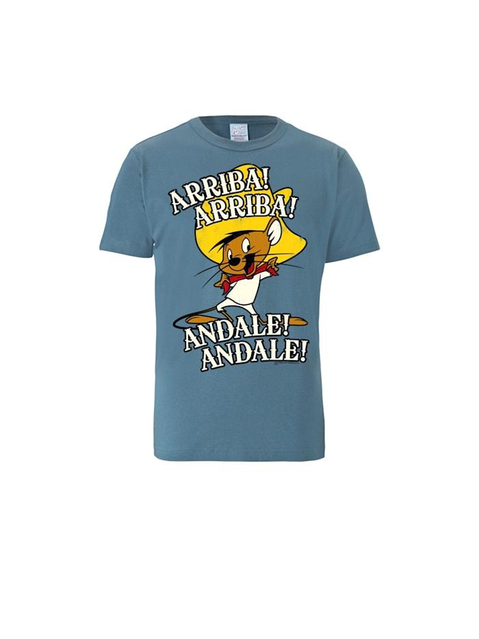 Logoshirt T-Shirt LOONEY TUNES - ARRIBA! ANDALE! mit coolem Frontprint, stahlblau