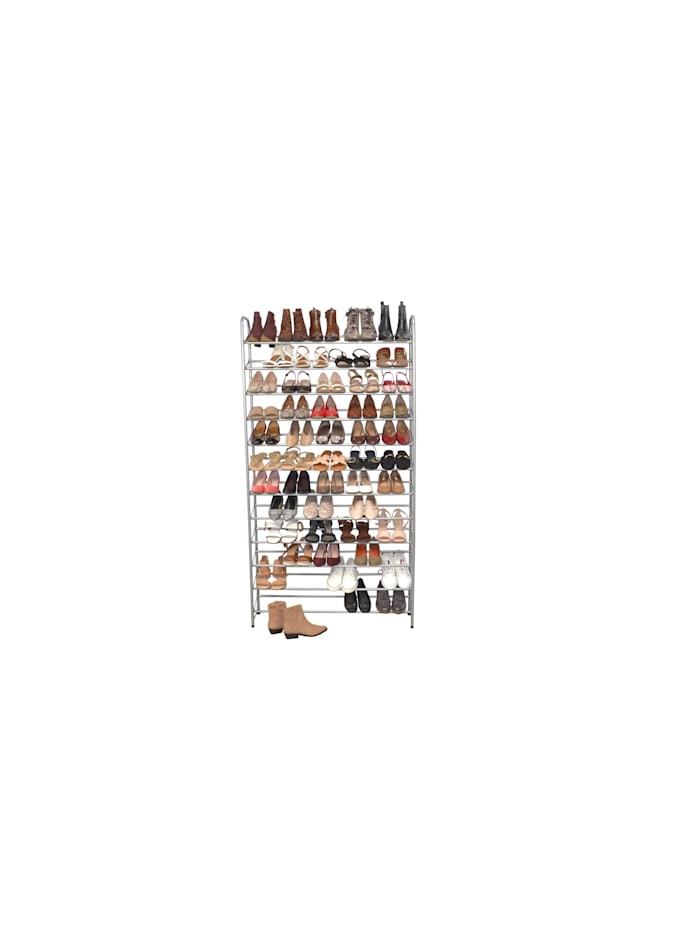 Möbel-Direkt-Online Schuhregal Sam, alufarben