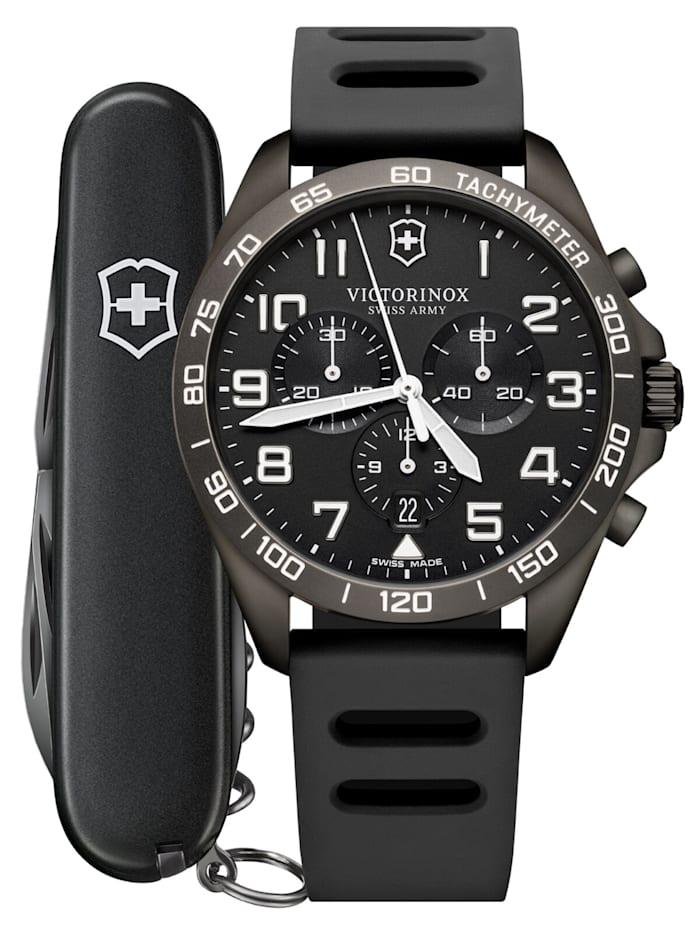 Victorinox Herrenuhr FieldForce Sport Chronograph Grau, Schwarz