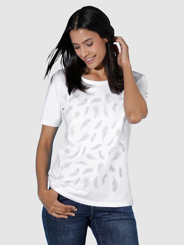 Dress In Shirt Federdruck, Hellgrau