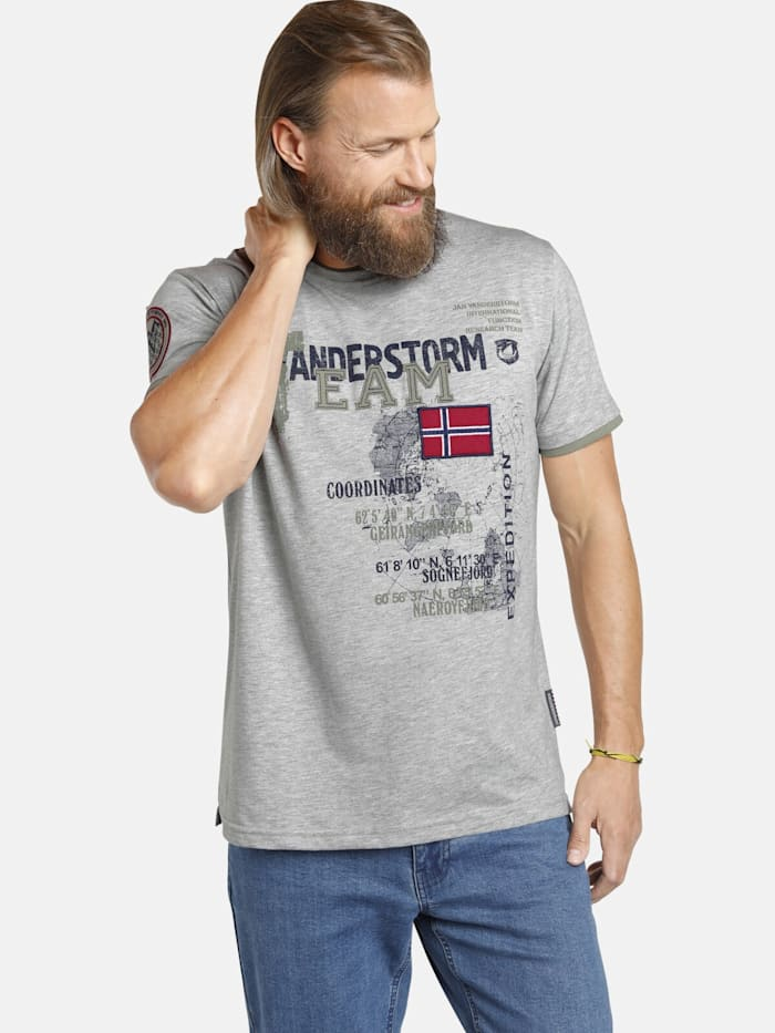 Jan Vanderstorm Jan Vanderstorm T-Shirt SÖLVE, grau