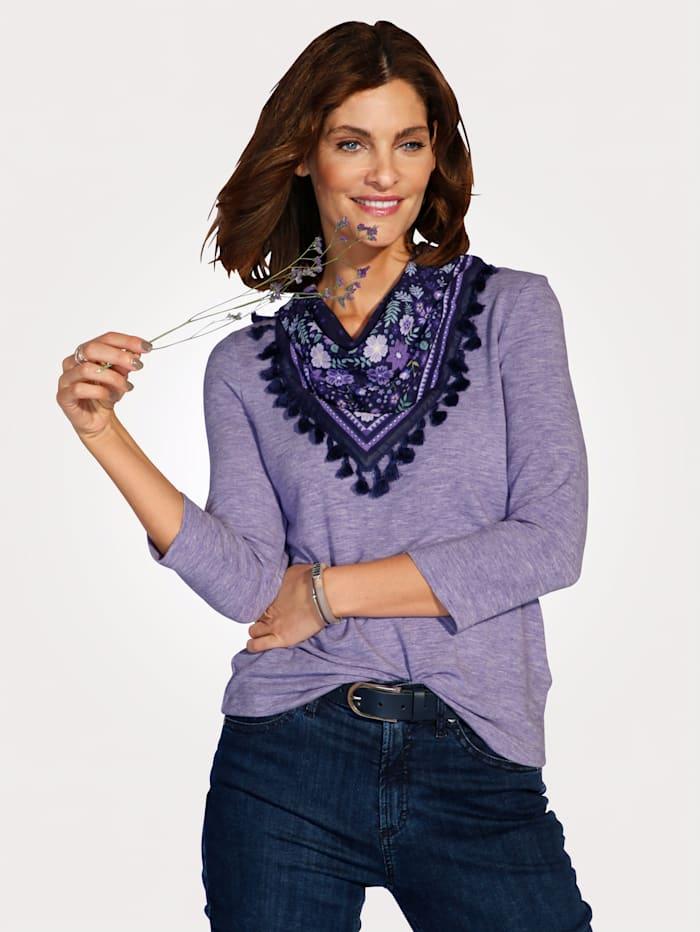 MONA Shirt mit Schal, Flieder