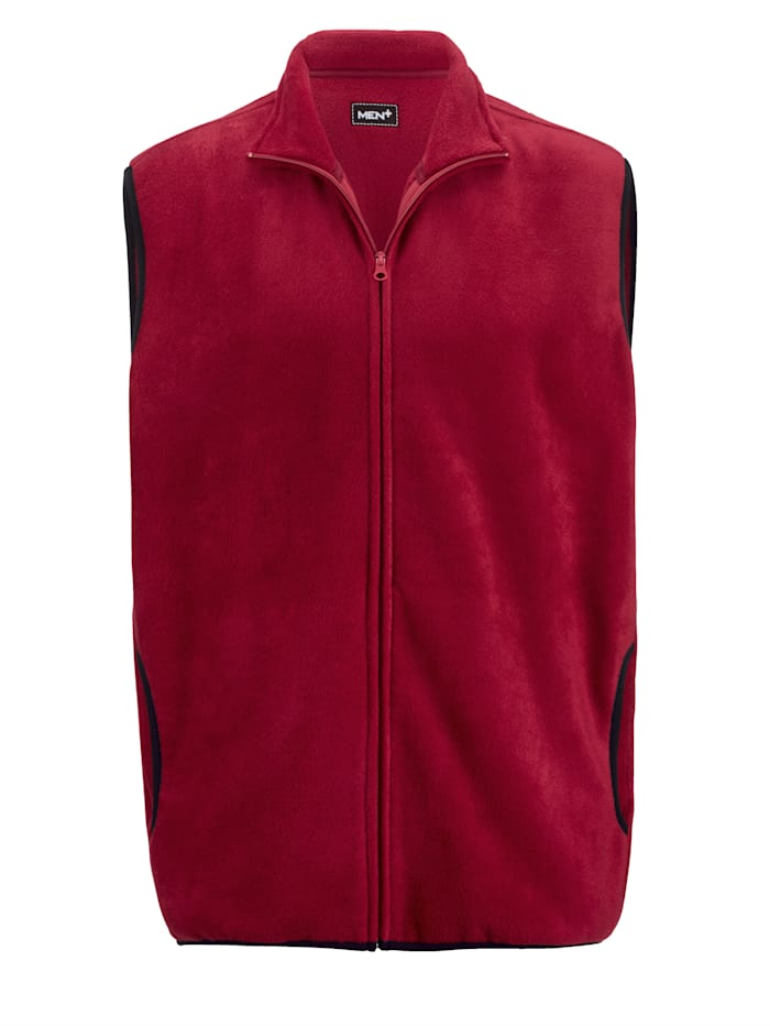 Fleece bodywarmer met zakken