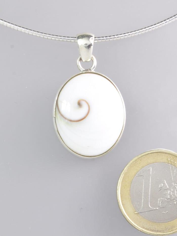 1001 Diamonds Shiva Auge Anhänger 925 Silber, grau
