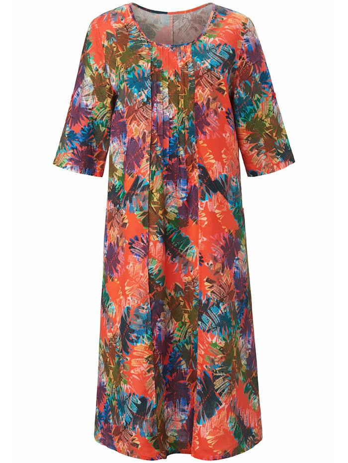 Anna Aura Kleid aus 100% Leinen, multicolor