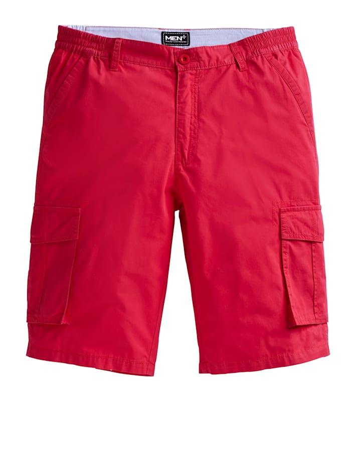 Men Plus Cargobermuda Spezialschnitt, Rot