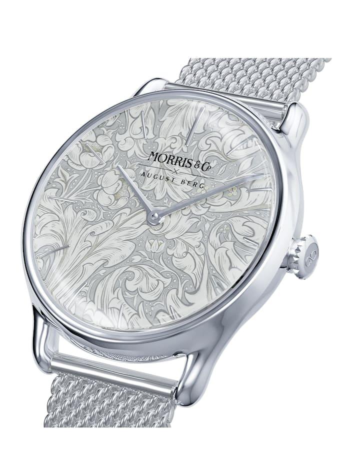 Uhr MORRIS & CO Silver Bachelors button Mesh 30mm