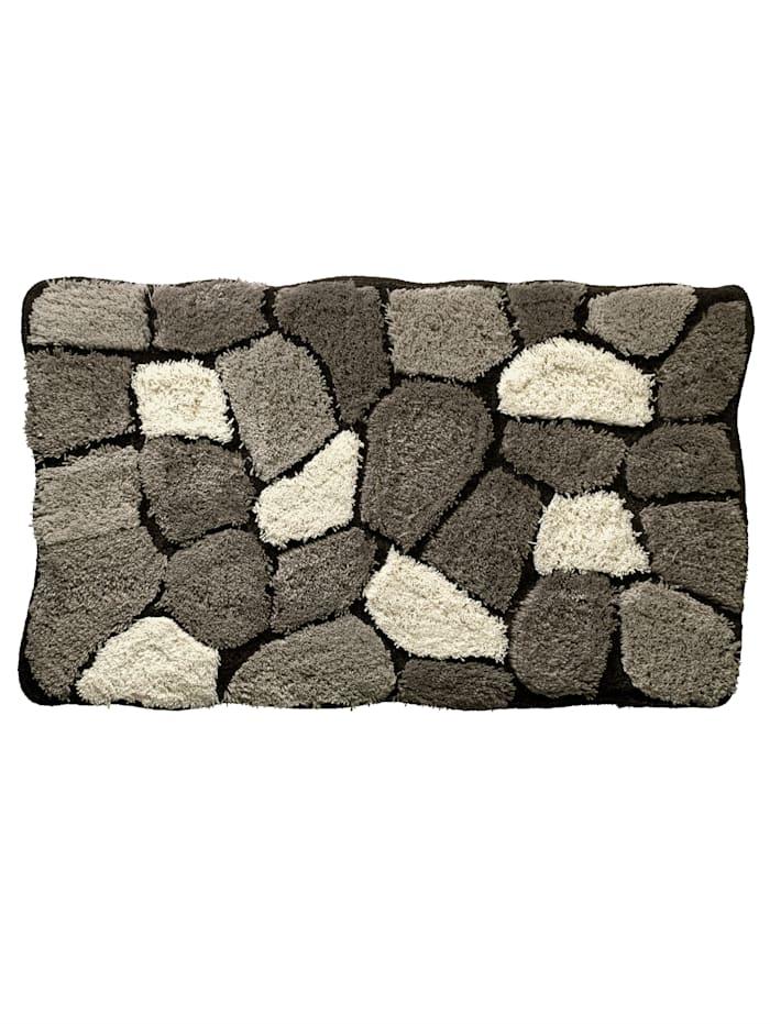 Webschatz Bademattenserie 'Stone', grau